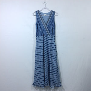 Charter Club Women's V Neck Dress. Blue. Size 8